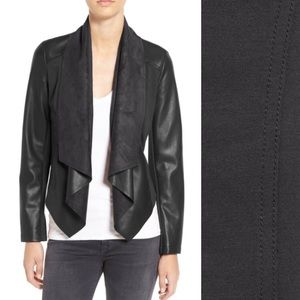 Kut from Kloth Drape Front Faux Leather Jacket